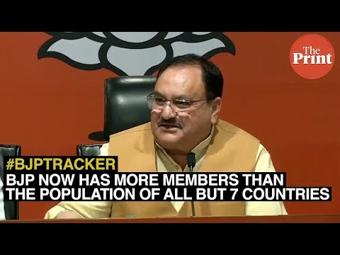 BJP now has more members than the population of all but 7 countries
