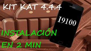 kit kat 4.4.4 en Galaxy S2 en 5 minutos sin tener ni idea.