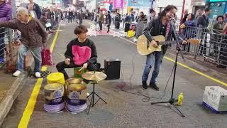 旺角菜街171210-歲月無聲(beyond黄家駒名曲)~秒拍旺角街頭音樂