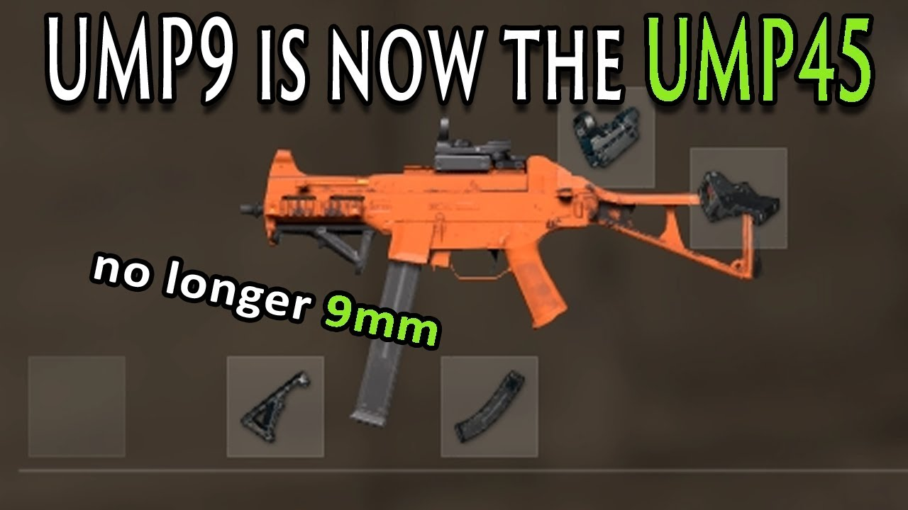 UMP45 PUBG   NEW Changes to UMP9 and Vector (NEW UPDATE)