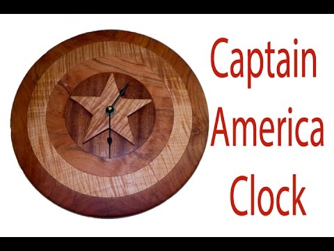 Woodturning How To Make A Captain America Shield Clock