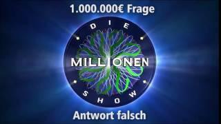 1.000.000€ Frage - Antwort falsch |  Millionenshow Soundeffect