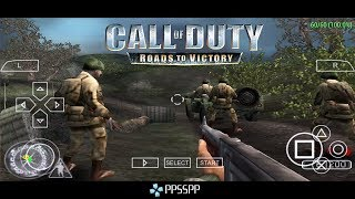 How To Play Cod Call Of Duty Roads To Victory Ppsspp Psp Emulator On Android Smartphone Youtube