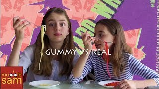 Gummy vs Real Food!! 😂 Sophia and Bella Mugglesam Mp3