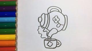 Bố Là Tất Cả ♫ Nhạc Thiếu Nhi Vui Nhộn ♫ Hướng dẫn bé vẽ Ấm Trà  ♥♥