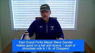 WATCH! East Grand Forks Mayor Steve Gander Makes Good On A Bet