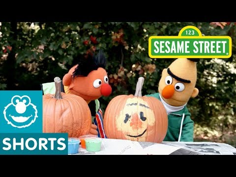 Sesame Street: Bert & Ernie's Pumpkin Painting Challenge | Backyard with Bert #1