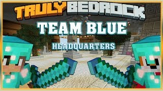 Truly Bedrock S1 EP19 Team Blue Headquarters Diamond Alliance[ Minecraft, MCPE, Bedrock Edition ]