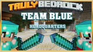 Truly Bedrock S1 EP19 Team Blue Headquarters Diamond Alliance[ Minecraft, MCPE, Bedrock Edition ]