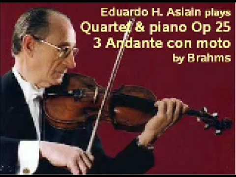 Brahms - Quartet & piano Op 25 - 3