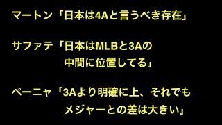 マートン「日本は4Aと言うべき存在」  サファテ「日本はMLBと3Aの中間に位置してる」   ペーニャ「3Aより明確に上、それでもメジャーとの差は大きい」 【プロ野球】