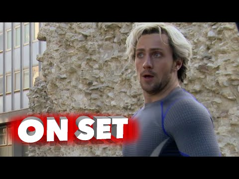 """Marvel's Avengers: Age of Ultron: Aaron Taylor-Johnson """"Quicksilver"""" Behind the Scenes Movie Broll"""