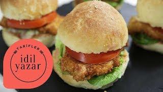 Çıtır Tavuk Burger Tarifi | Tavuk Burger Yapımı | İdil Yazar ile Yemek Tarifleri