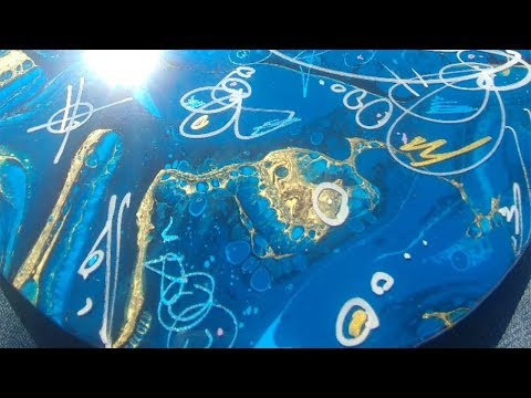 Abstract Art Paintings On Vinyl Records [Modern and Fluid Acrylic Artwork by Redideo]
