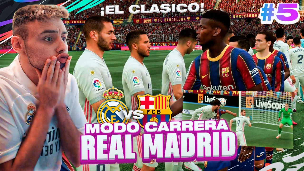 ?¡UN CLÁSICO ÉPICO vs FC BARCELONA! FIFA 21 | MODO CARRERA - REAL MADRID - Episodio 5