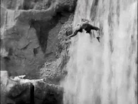 """Buster Keaton in """"Our Hospitality"""" - Waterfall scene"""