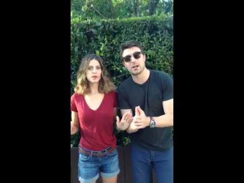 Lyndsy Fonseca and Noah Bean ALS Ice Bucket Challenge