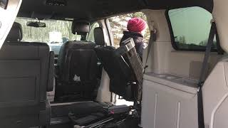 Easy-Reach Entering and Exiting Passenger Rear of Dodge Caravan 2011-Present (Interior View)