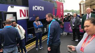 Download Rohit, Jadeja, Hardik Take Selfies With Indian Fans at Trent Bridge Ground Before Ind vs NZ WC Game Mp3 and Videos