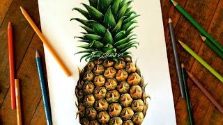 SPEED DRAWING: Realistic Pineapple