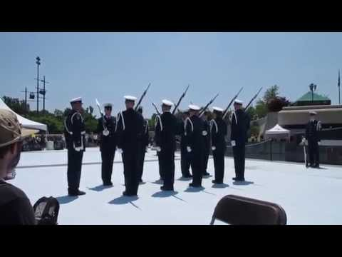 United States Coast Guard Silent Drill Team - National D-Day Memorial 2015