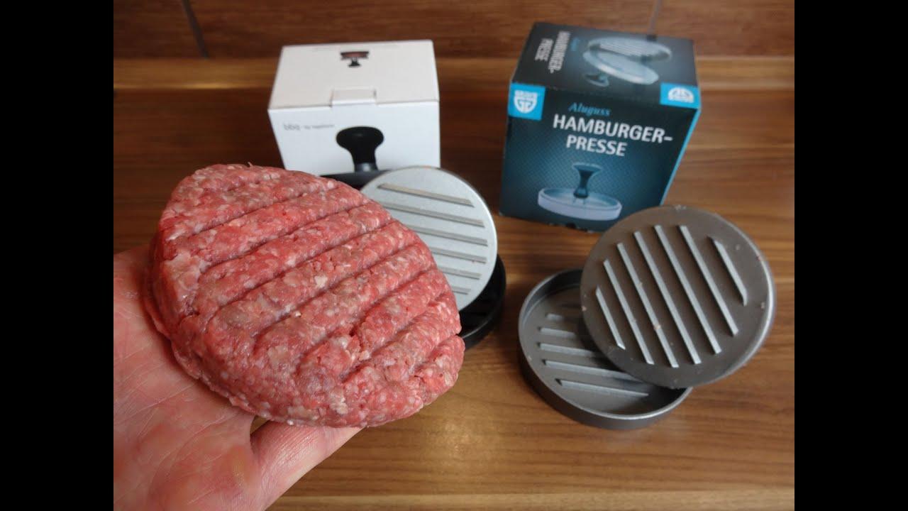 Enkelt patty hamburger presse