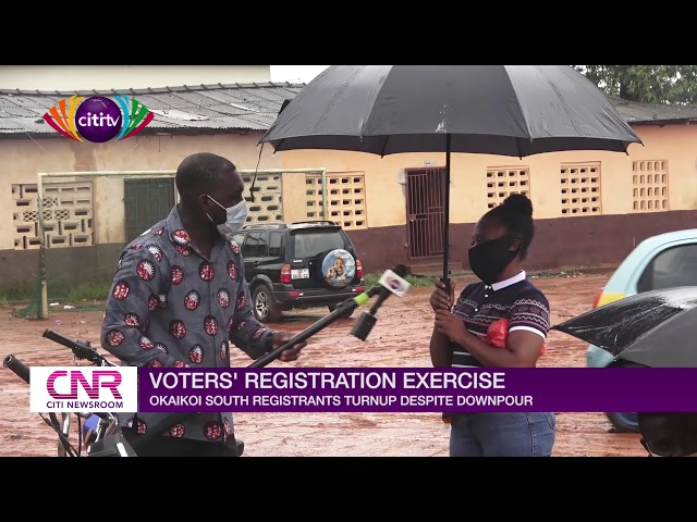 Okaikoi South residents brave downpour to register for Voters' ID