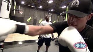 Matt Hagan works out at MusclePharm