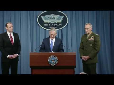 WAR on ISIS. 5-19-17. Sec. Mattis & CJCS Gen. Dunford Press Briefing On Iraq/Syria Ops.