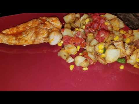 Cooking with Mark Tex mex chicken and potatoes