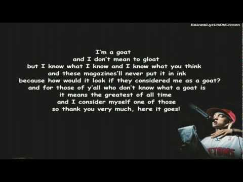 Eminem - G.O.A.T. - Lyrics On Screen - HD