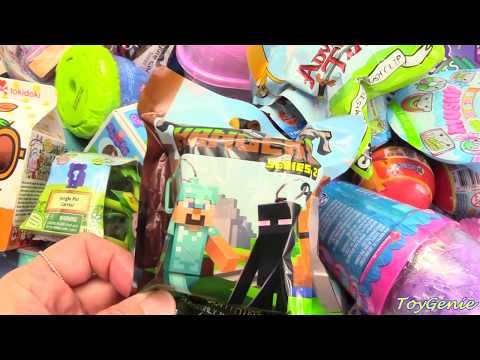 Genie Opens Surprise Toys, Make Spaghetti Slime, Blind Bags and Blind Boxes
