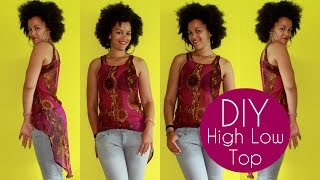 How To Make a High Low Top   Sewing For Beginners