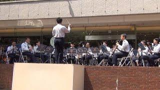 2017年5月に新宿三井55広場で行われた航空自衛隊航空中央音楽隊の屋外コ...