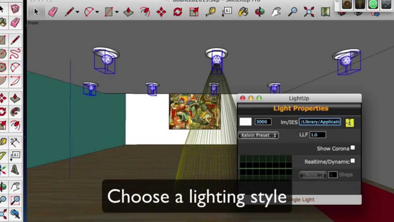 LightUp Plugin for SketchUp – Render Lighting Effects