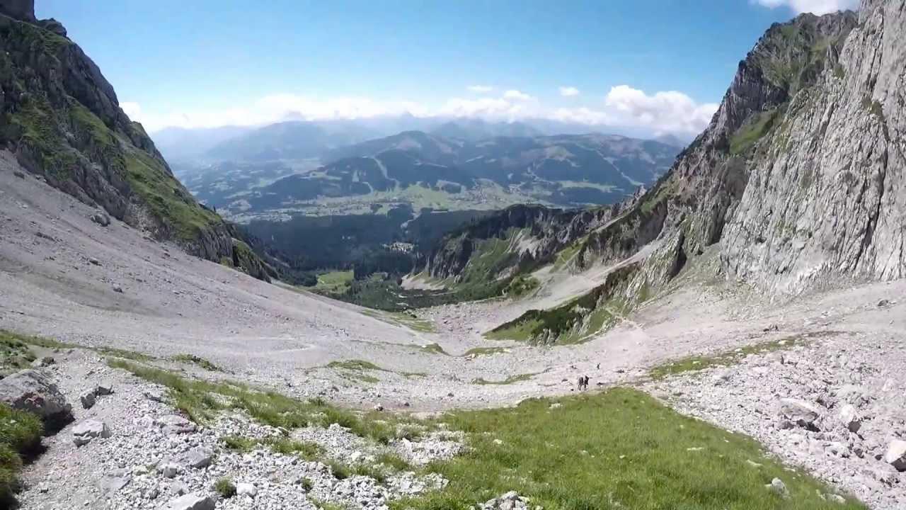 Klettersteig Wilder Kaiser Ellmauer Halt : Wilder kaiser wanderung zum ellmauer tor youtube