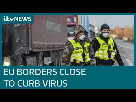 European Union agrees travel ban to curb coronavirus | ITV News