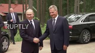 Finland: Putin holds bilateral talks with Finnish president in Savonlinna