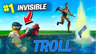 ÊTRE INVISIBLE A LOOTLAKE SUR FORTNITE BATTLE ROYALE !!!