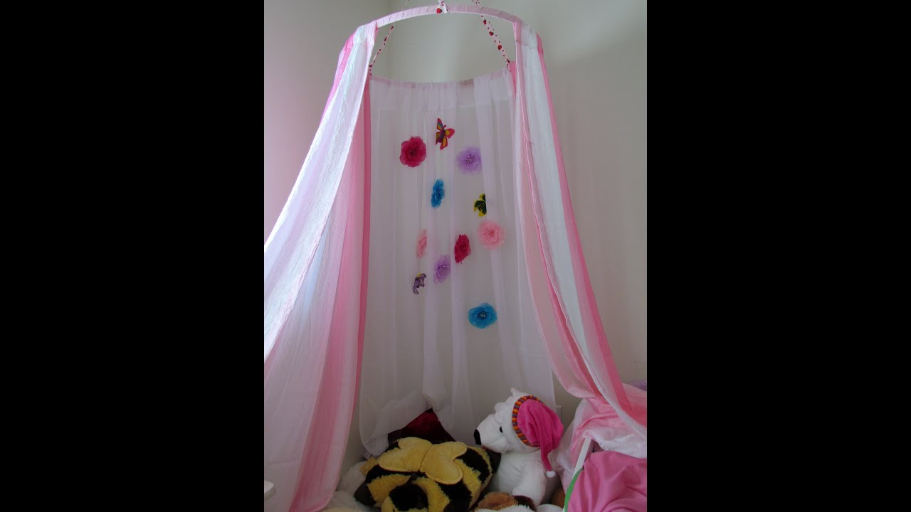 How to make a Canopy Tent Craft DIY No Sew Kid's Canopy ...