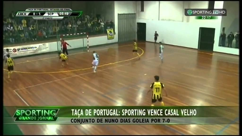 Futsal :: Casal Velho - 0 x Sporting - 7 de 2014/2015 1/8 Final Taça de Portugal