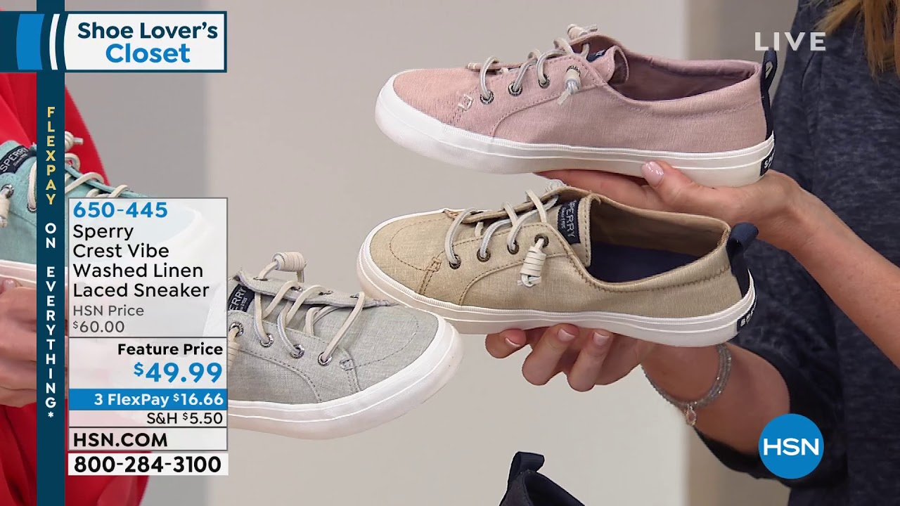 Sperry Crest Vibe Washed Linen Laced