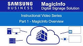 Samsung MagicINFO Solutions feature video - YouTube