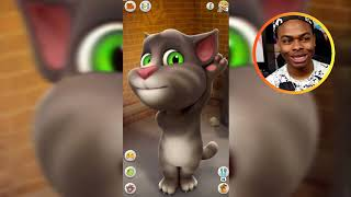 Testing The CREEPY TALKING TOM App for the First Time!