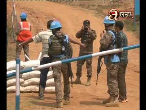 Nepal Army's training practise for UN mission with 29 countries - Panchkhal