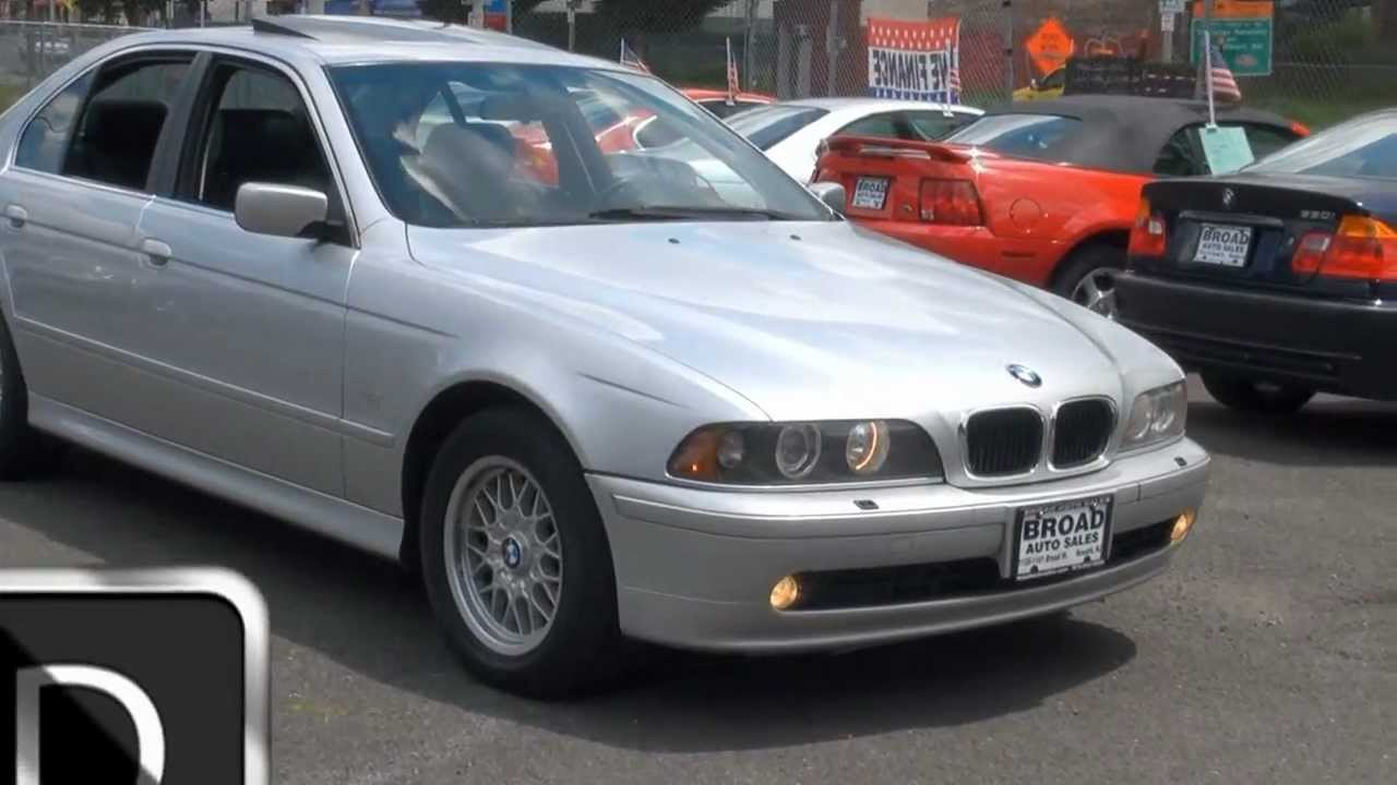 2001 bmw 5-series 525i broad auto s broad street newark, nj