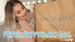 HUGE PRIMARK TRY ON HAUL! FEBRUARY 2019.. NEW IN HOME, FASHION + BEAUTY | Gemma Louise Miles