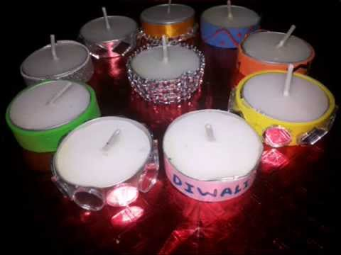 10 Ideas Of Decorating Tealight candles At Home - YouTube