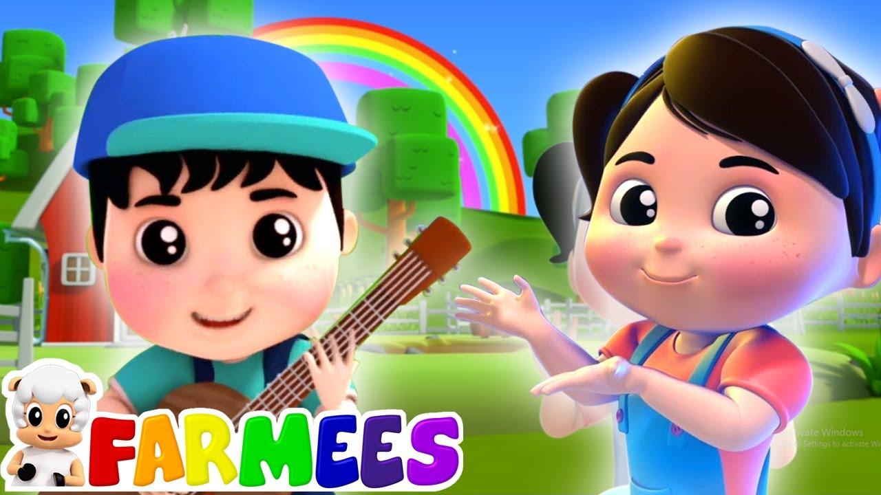 Màu sắc cầu vồng | Bài hát cho trẻ em | Vần điệu trẻ | Farmees Vietnam | Hoạt hình