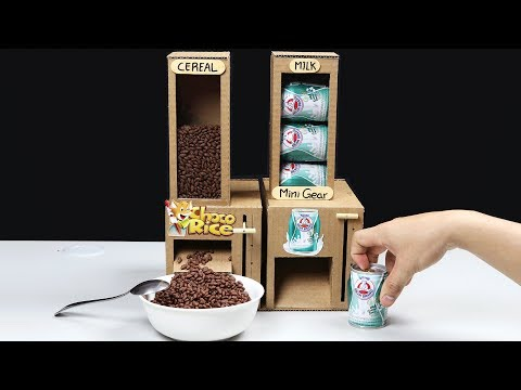Wow! Amazing DIY Cereal and Milk Dispensers from Cardboard
